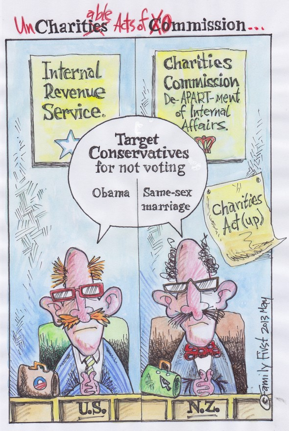 charities commission v irs cartoon